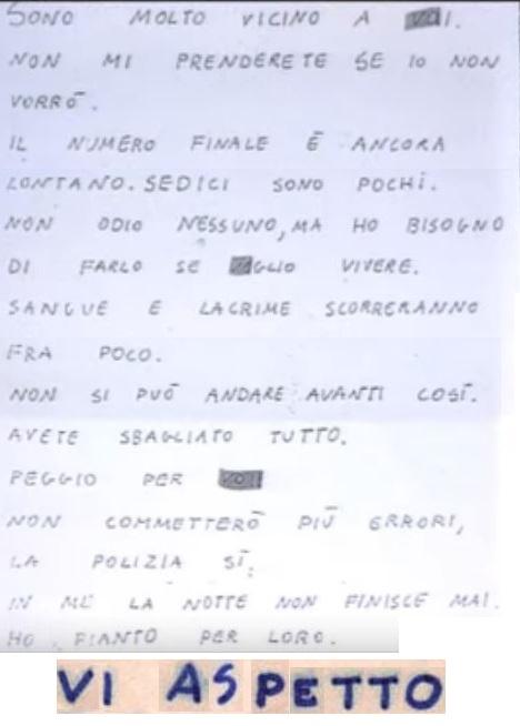 Zodiac Mostro calligrafia