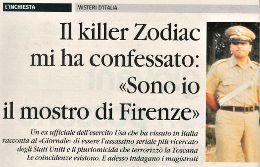 Zodiac Amicone Il Giornale
