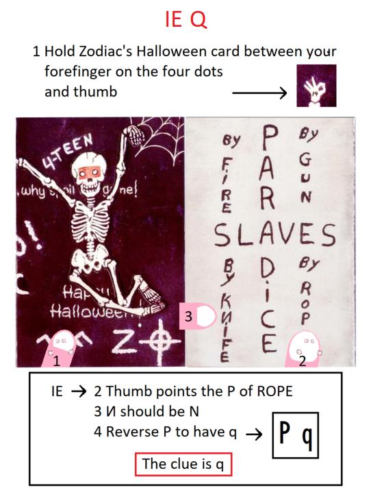 Zodiac halloween card Q